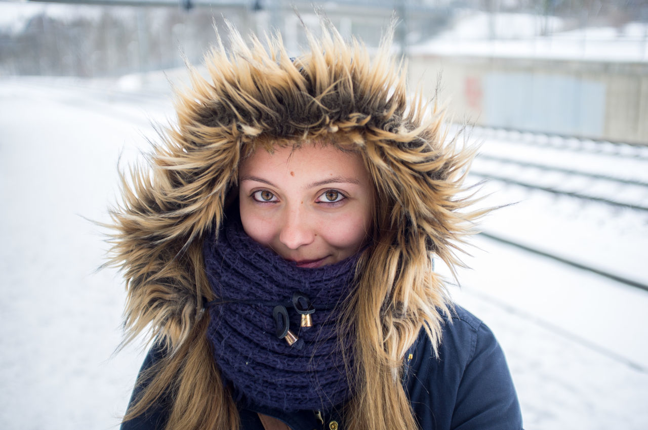 Adult Adults Only Beautiful People Close-up Cold Temperature Day Finland Helsinki Human Body Part Looking At Camera One Person One Woman Only One Young Woman Only Only Women Outdoors People Portrait Snow Travel Warm Clothing Winter Winter Young Adult Young Women
