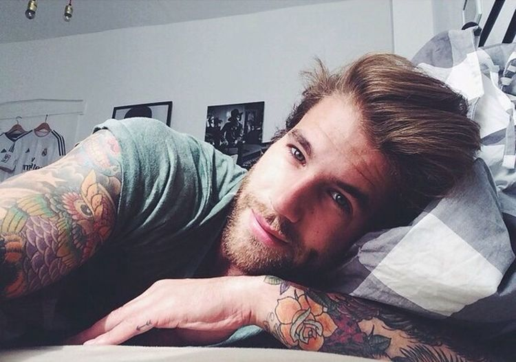 Good night y'all with André :) have a good dream Tattoo Man With Tattoo Model