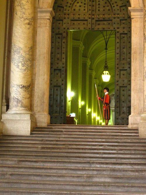 Architectural Column Architecture One Person Roma Rome Vatican Vaticano St Peters Basilica Swiss Guard