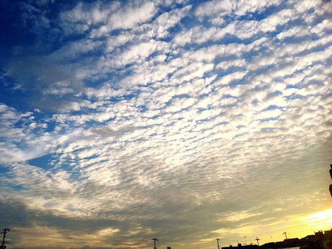 Todayssky Sunset Clouds And Sky Cloud Autumnbeauty Beautiful Beauty In Nature Today Cloud - Sky Autumn Clouds IPhone Holiday Feelsogood Natural Beauty Sunset_collection Sunsetphotographs Gradation Imasora
