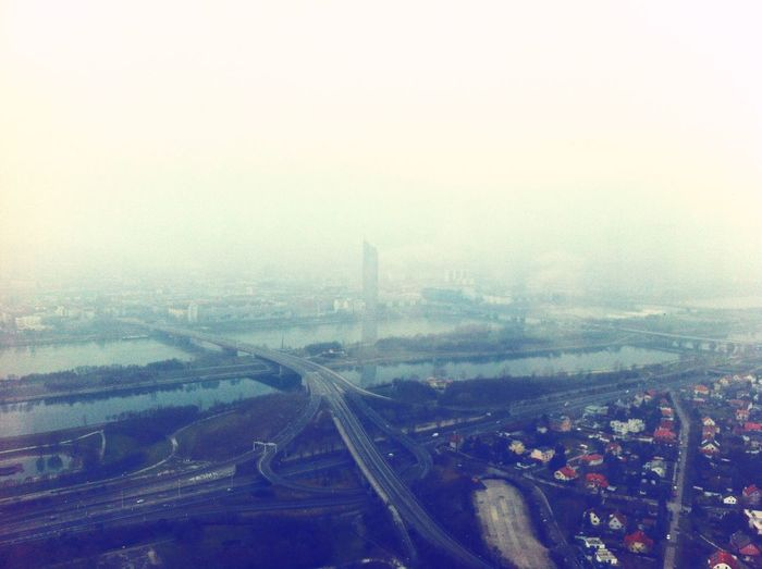 Battle Of The Cities City Weather Fog Cityscape Foggy Sky Vintage Urban Skyline Vienna Austria