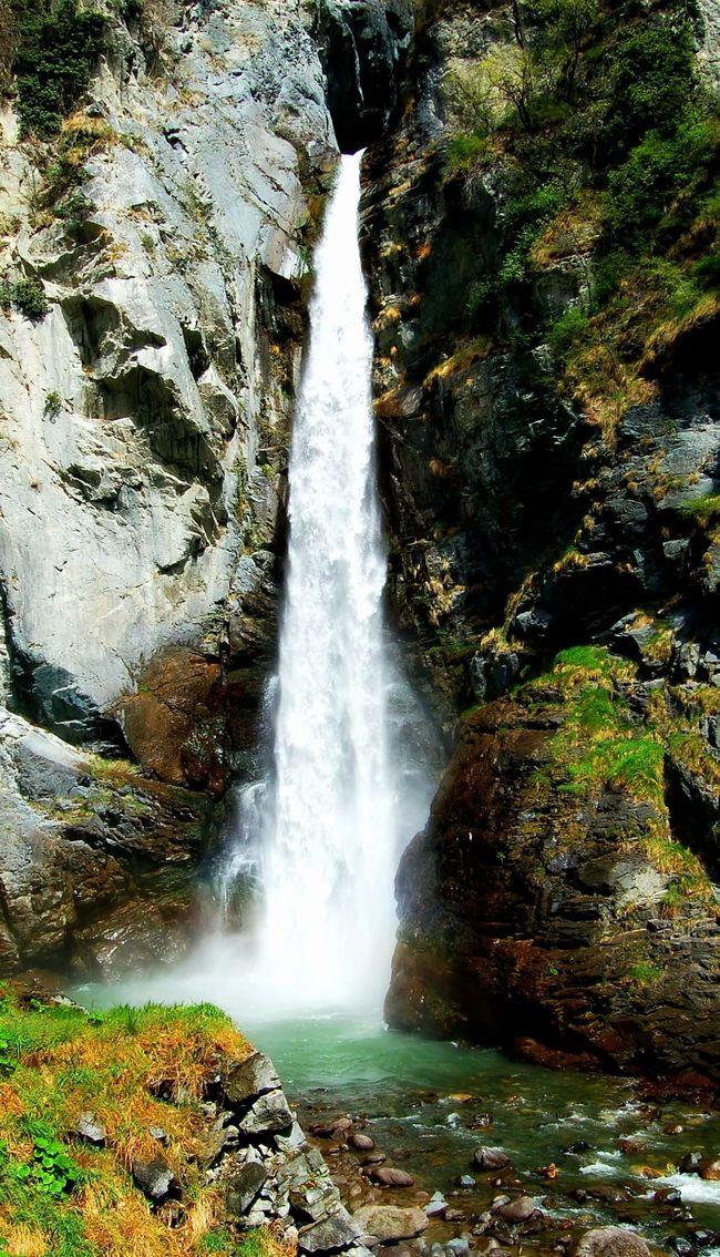 Waterfall Lake Mountain River Montainriver Rocky Mountains