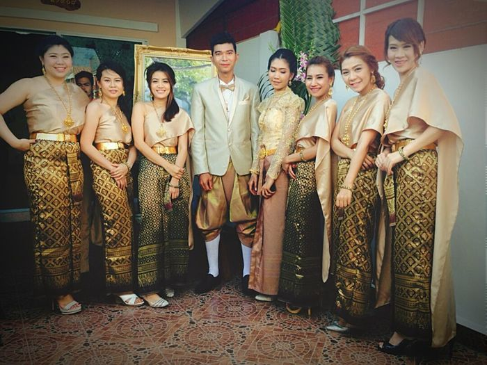 Enjoying Life Wedding Bridesmaids That's Me Thaiculture Traditional Costume With Freinds Thailand