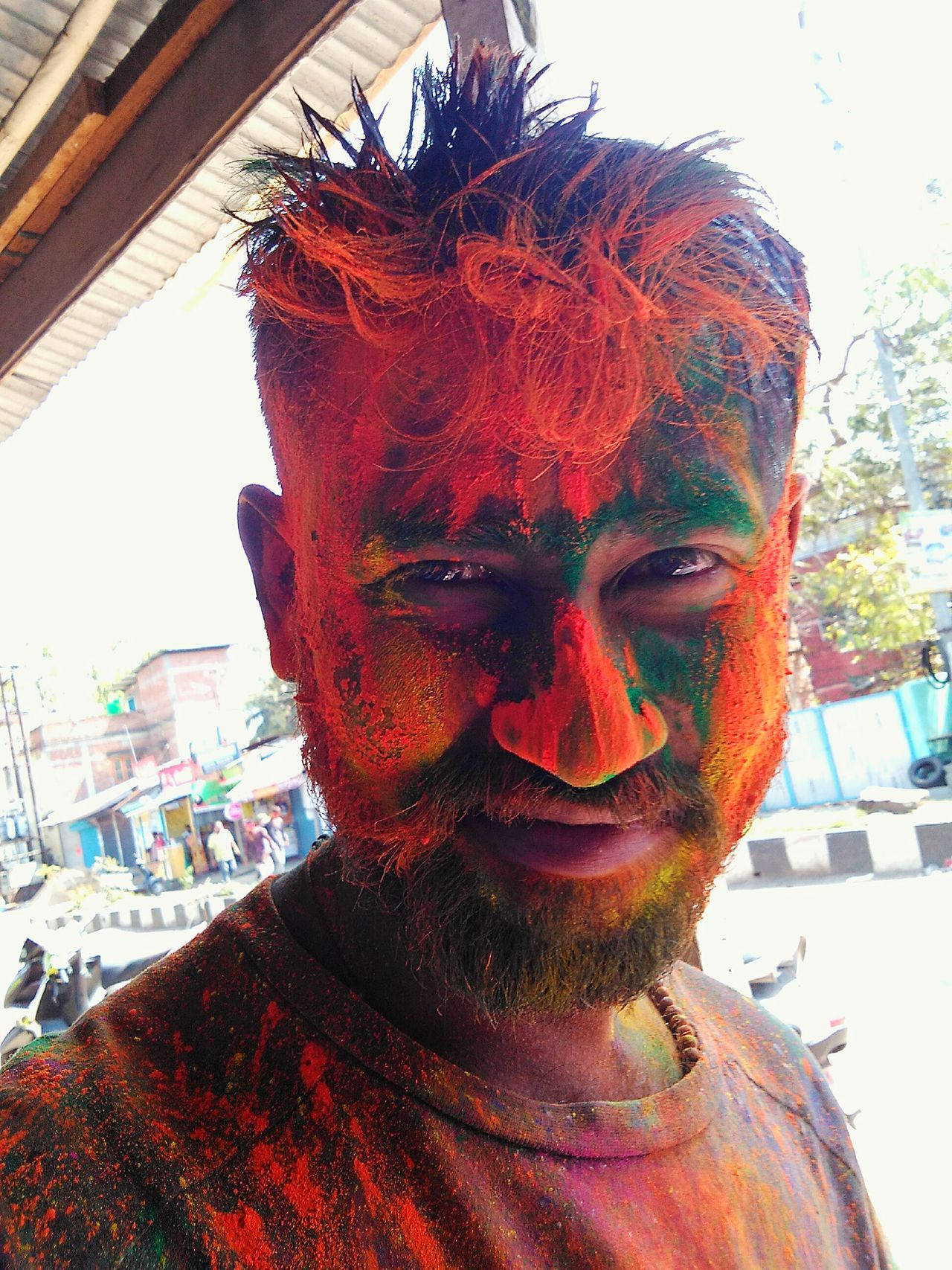 Color Colorfull Lights One Person Face Paint Front View Looking At Camera Real People Happiness Close-up Attitude BeingMyself Looking At Camera One Man Only Colorfull Colorfull Life Holi Happy Fun Outdoors Openmind Portrait Colorfull Day Face For Pictures Camera Lover Festivle