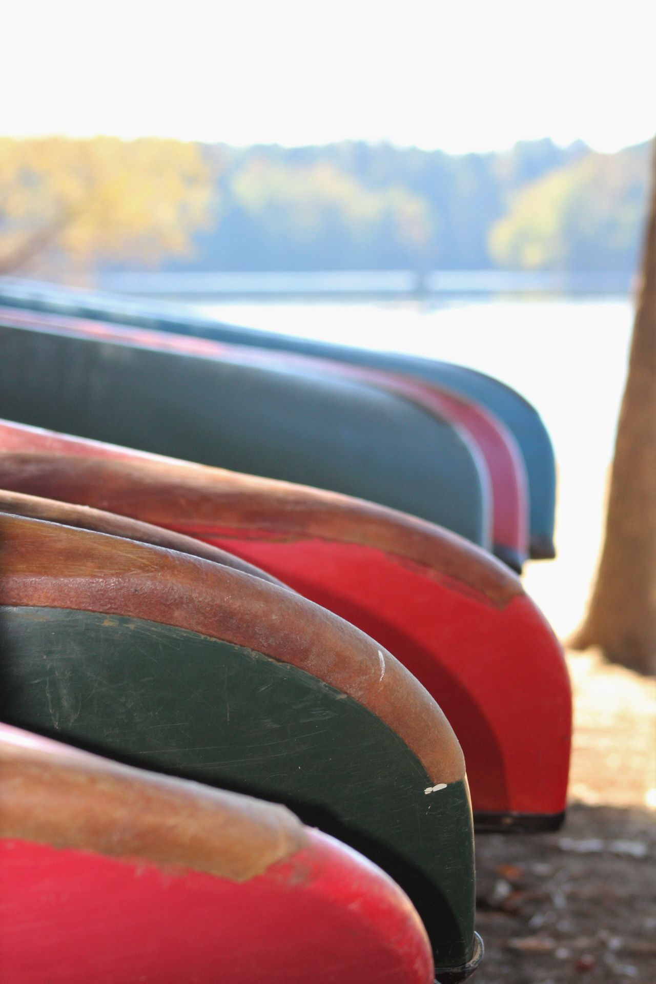Colorful Canoes Canoes Stacked Up Canoes Canonphotography Canon Water Outdoor Photography Finding New Frontiers