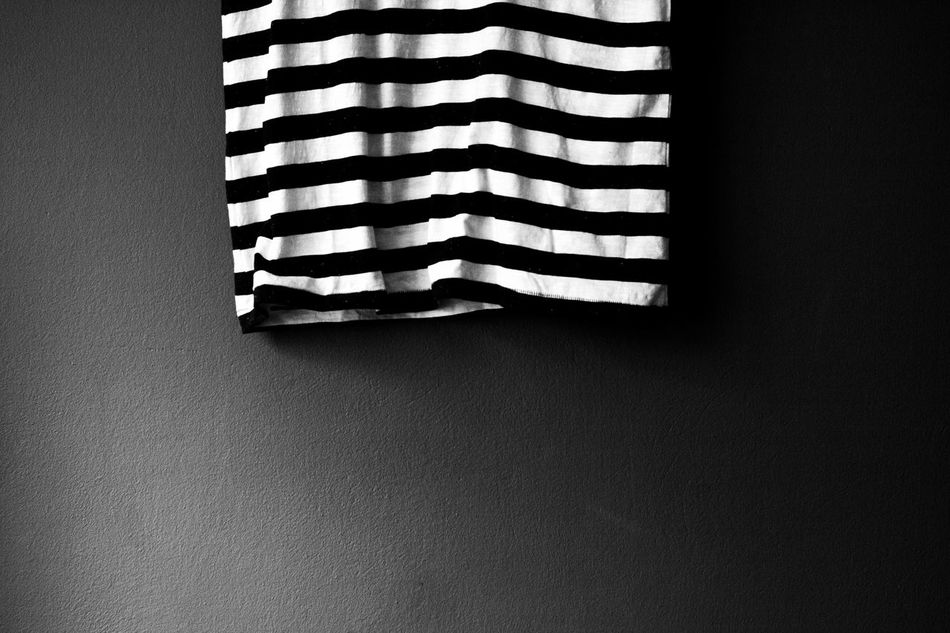 Striped No People Day Indoors  Close-up Black And White Photography Grainy Images Textile Fabric Textured  Full Frame Bed Backgrounds Experimental Photography Low Section Darkness And Light Low Angle View Sheet