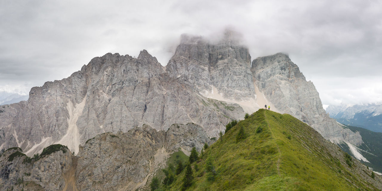 Dolomiti, the Pelmo Muont near Rifugio Fiume Clody Day Dolomiti Bellunesi Dolomiti Italy Dolomitiunesco Montains    Overcast Panoramic Photography Panoramic View Path Pelmo Scenic View The Week On EyeEm Val Zoldana People And Places