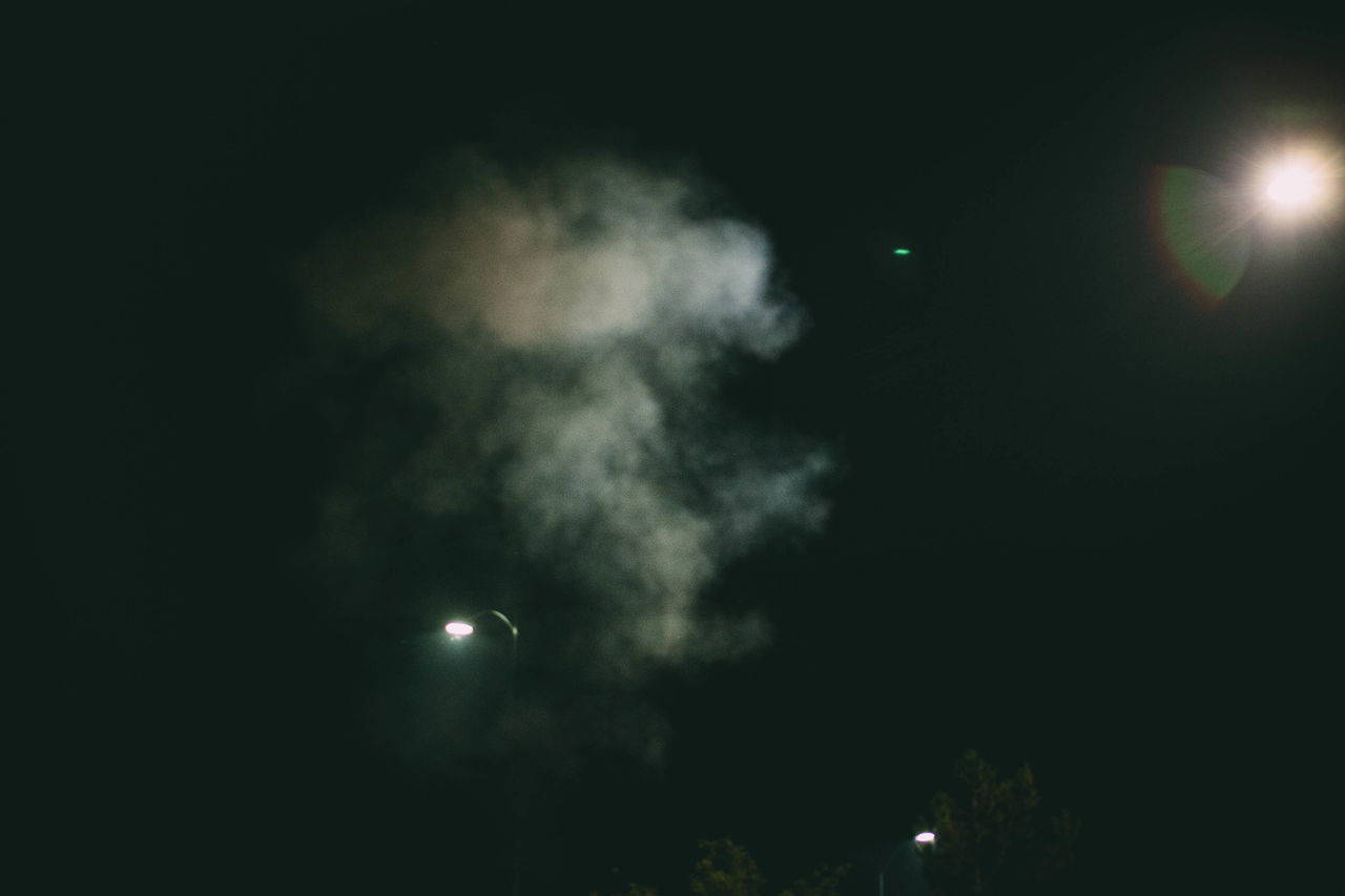 Night Moon Illuminated No People Outdoors Astronomy Nature Sky Evanscsmith Photographerinlasvegas Architecture Smoke - Physical Structure