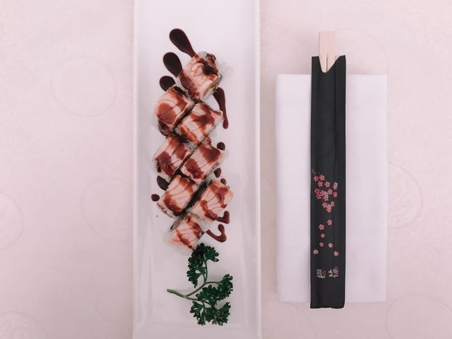 Food addiction. Sushi Indoors  Food White Background Animal Themes Freshness Day Millennial Pink Food Stories