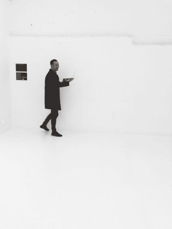 Monochromatic Man In Black