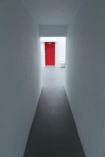 Corridor Indoors  Built Structure Door Architecture No People Day Long Hallway Creepy Hallway