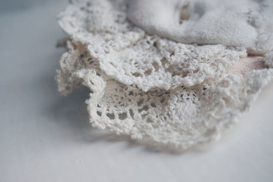 100 years old baby dress collar Close-up No People Indoors  Day Vintage Retro Old-fashioned Old Collar Collar Bone Babtism Part Of Detail Details Close Up White White Color Nuperelle Handmade Creativity