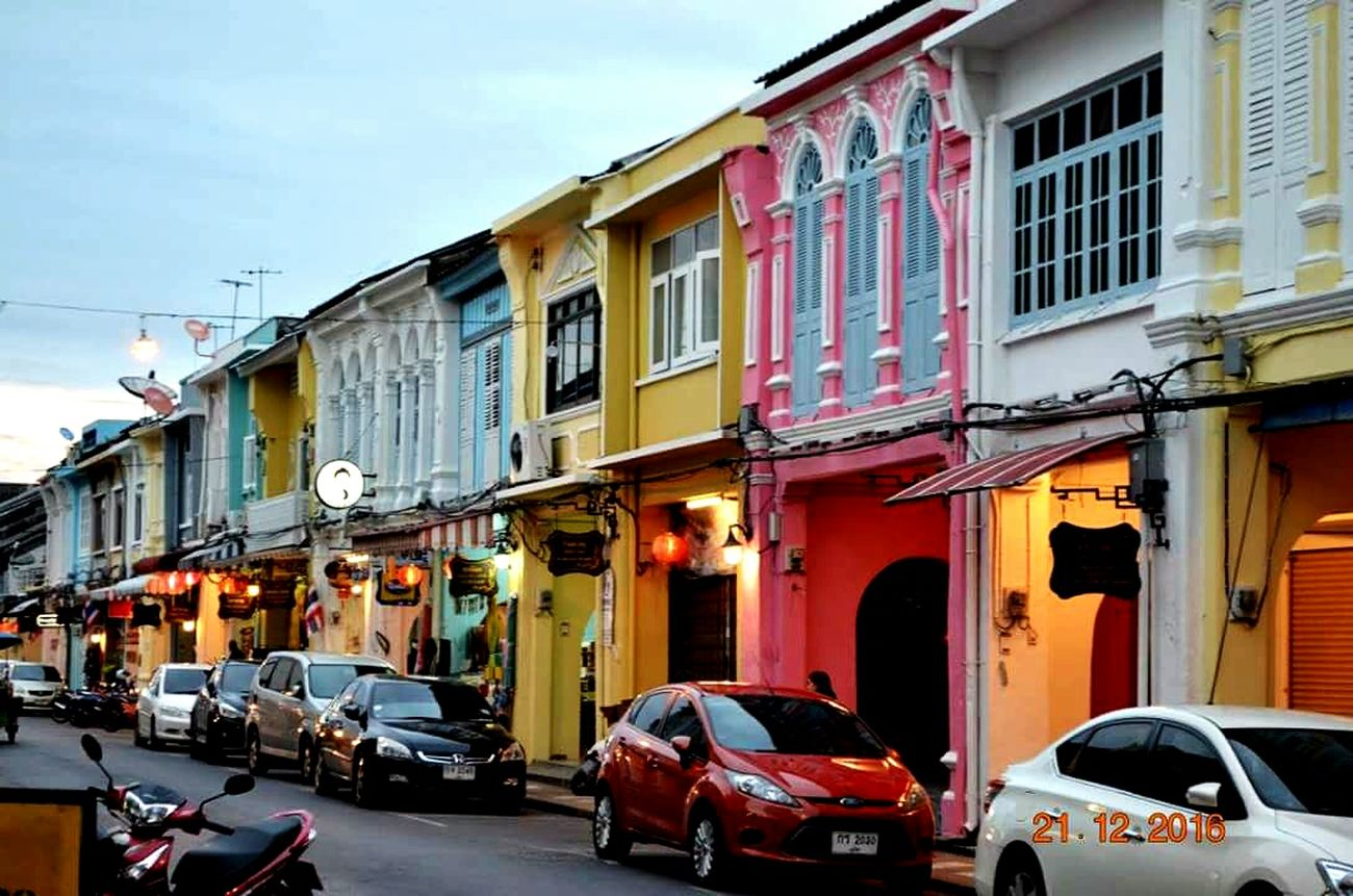 Urban Thailand City Street Phuket Town Thaïlande Architecture Tranquility