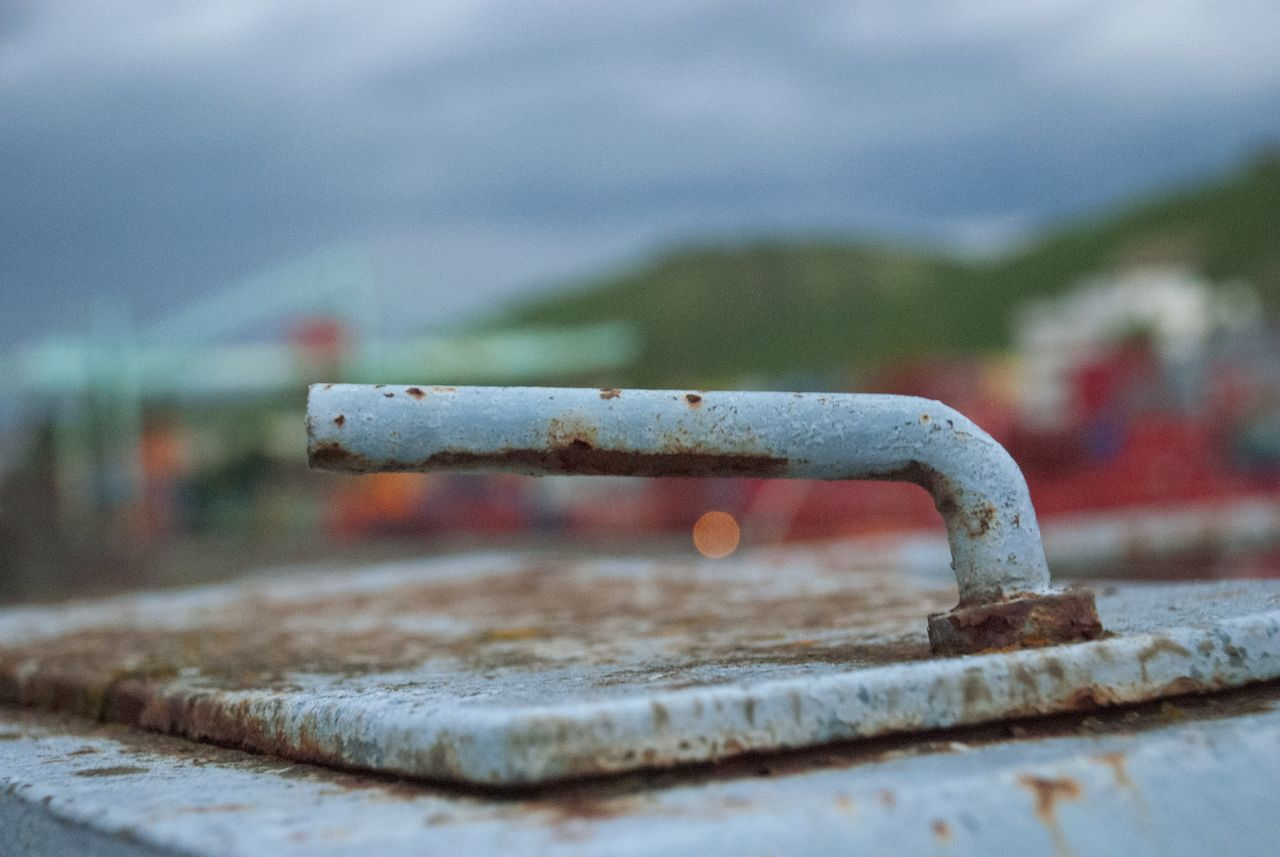Close-Up Of Rusty Metal Handle Outdoors