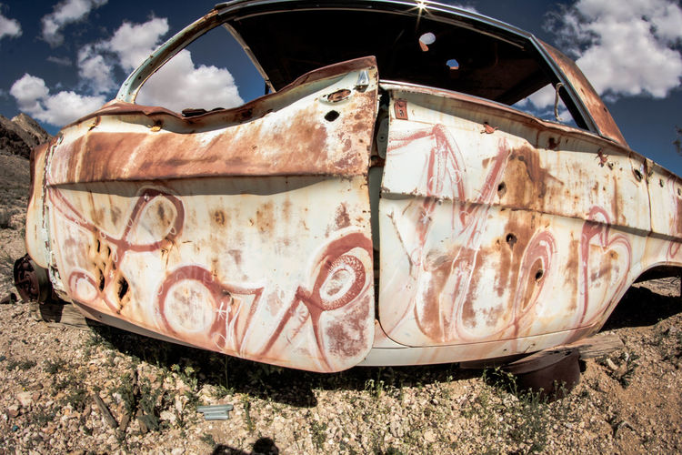 Abandoned Abandoned Car Bad Condition Broken Close-up Cloud Damaged Day Deterioration Dirty Discard Grass Landscape MeinAutomoment Mode Of Transport Nature Nevada Desert No People Non-urban Scene Obsolete Old Outdoors Part Of Run-down Rusty Lieblingsteil Art Is Everywhere