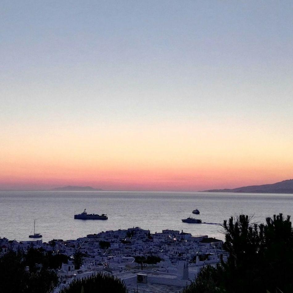 last may... Holidays ... Sunset ...on Mykonostown