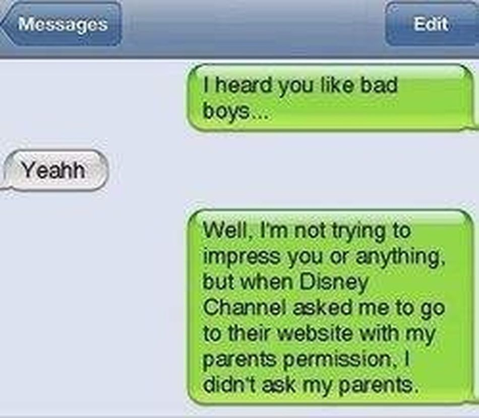 Bad Boys And Girls Funny Texts Disney LOL