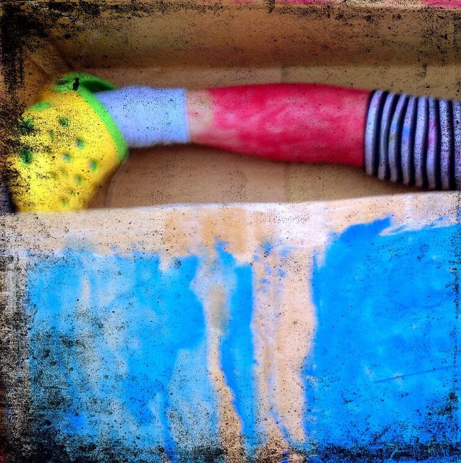 Blue Red Vibrant Color Yellow Multi Colored Studiophotography Damaged Kids Music Photography  Punk Creativity Collection Crazy Punk Style