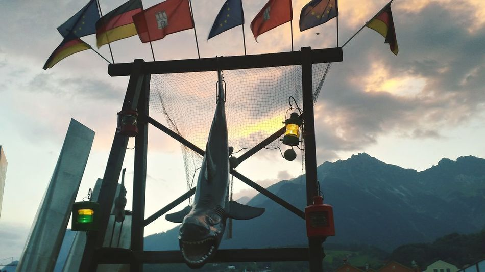 Beautiful stock photos of shark, hanging, mountain, sky, cloud - sky