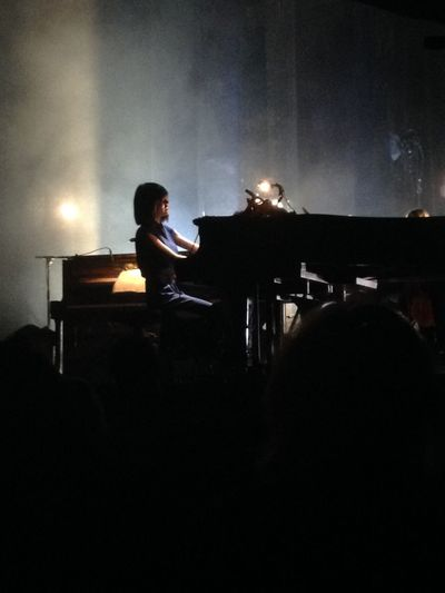 The famous pianist Alice Sara Ott during her concert in Paris. Alice Sara Ott Piano Concert Paris Classical Music
