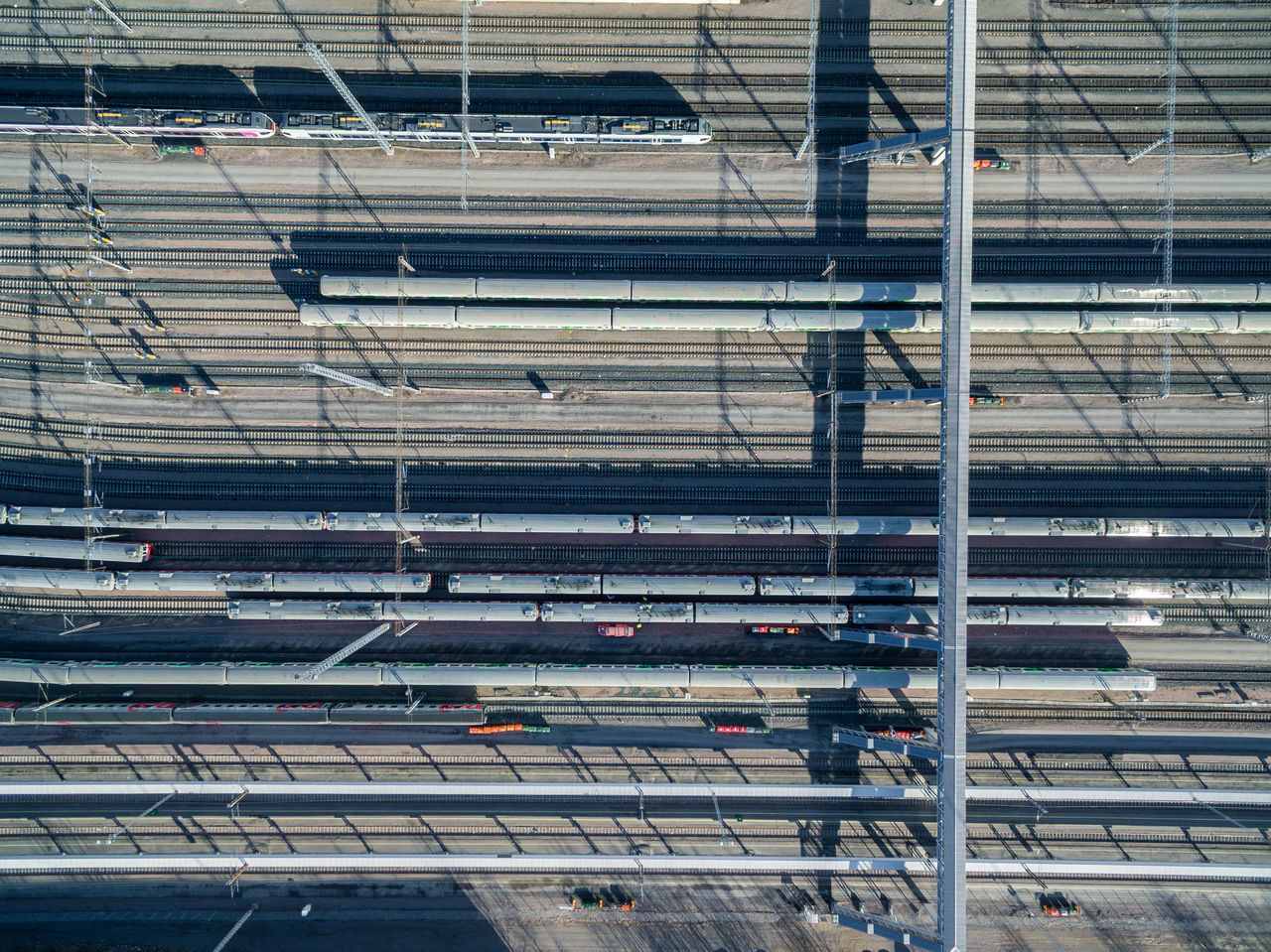 Architecture Built Structure Day Drone  Finland From Above  Helsinki High Angle View Indoors  No People Top Perspective Tracks Train Transportation
