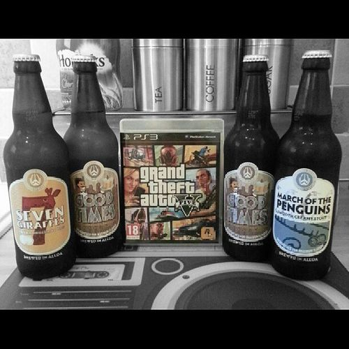 Don't drink and drive kids, that's for fools...unless you're playing GTA, then go ahead and mow those bitches down! GTA GTAV Gta5 GrandTheftAuto Ps3 Xbox360 Microsoft Sony Rockstar Beer Stout Alloa Braw GoodTimes MarchOfThePenguins 7Giraffes MicroBrewed HeresToTheWeekend Like4like L4l Likeforlike Blackandwhite Coloursplash PictureEdit Picedit Weekend Saturday SaturdayNight