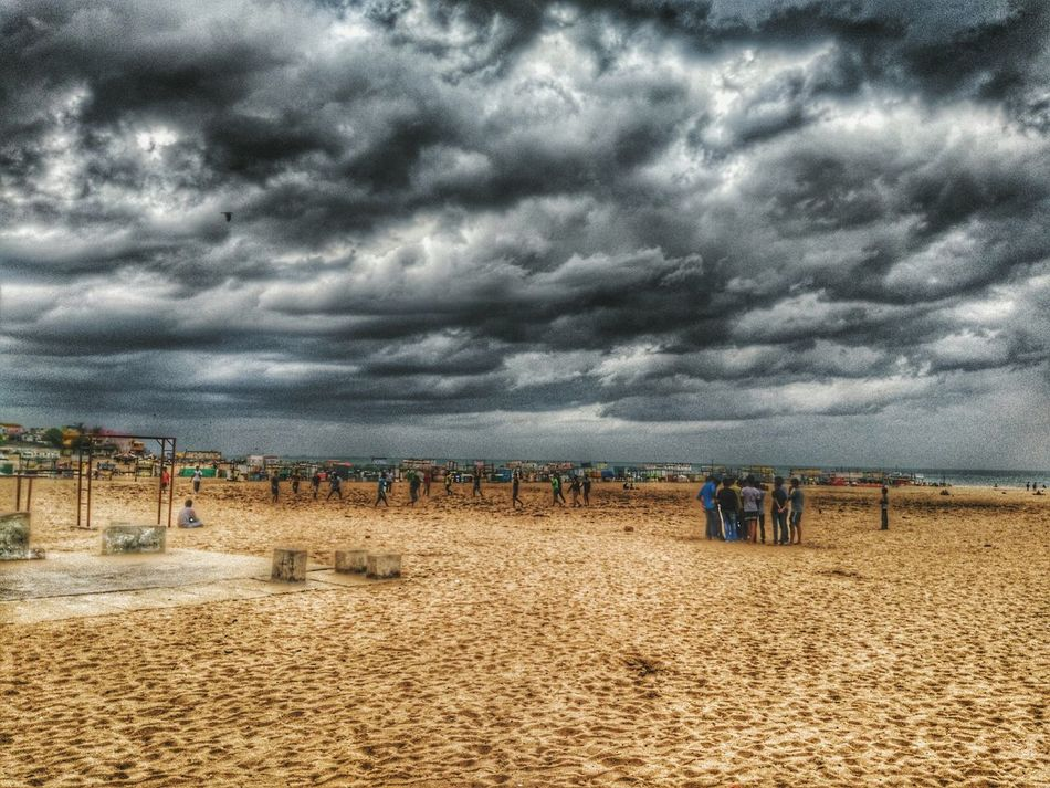 Beach time! Hanging Out Relaxing Enjoying Life Chennai Beach Cloudporn Clouds And Sky Sand & Sea Mobilephotography Evening Walk Cloudy Day Edited