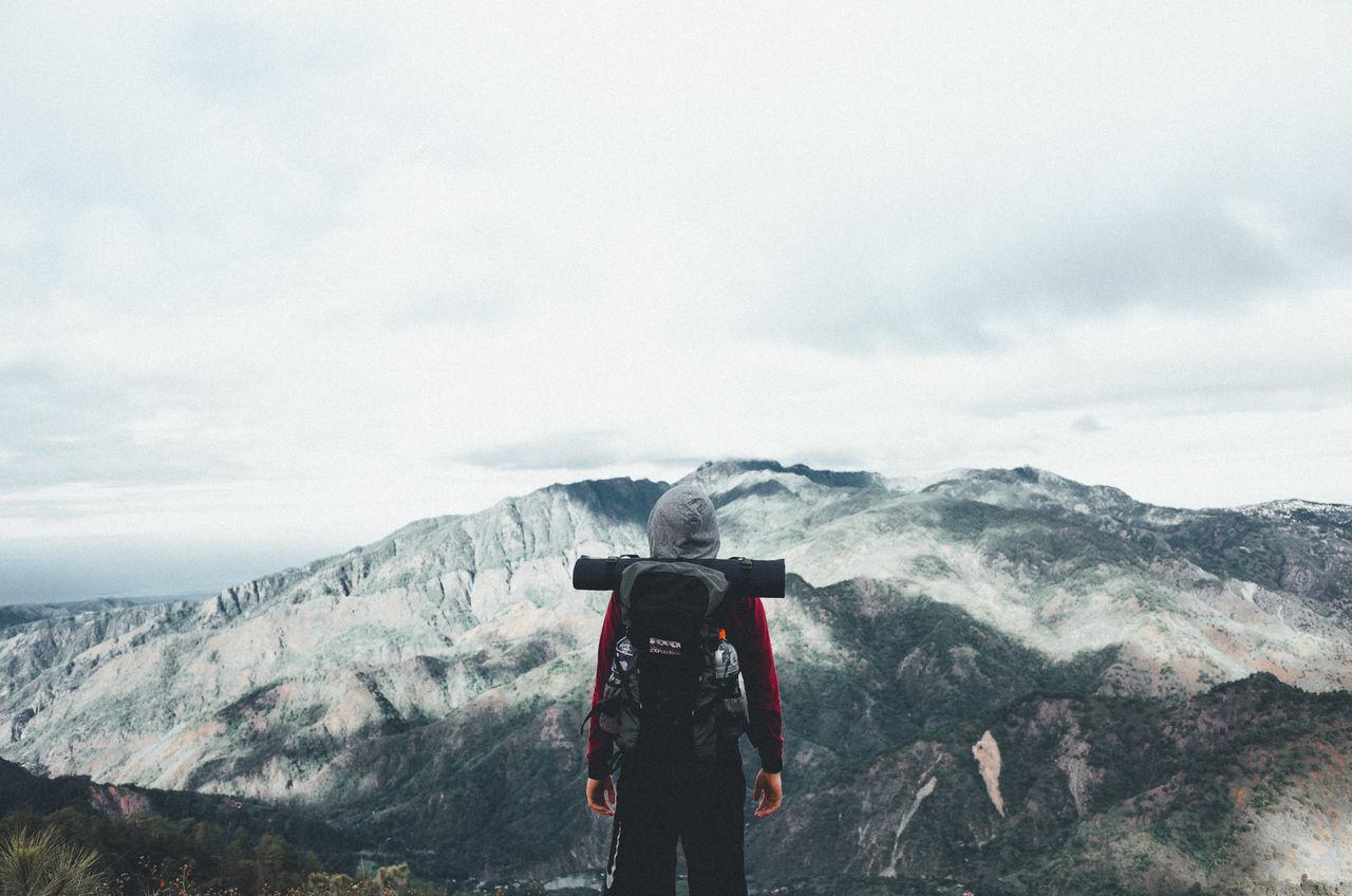 Adventure EyeEm Best Edits EyeEm Best Pics Eyeem Philippines Hiking Hikingadventures Landscape Mountain Mountain Range Mountaineering Nature One Person Portrait Sky Standing Hiker Hike The Great Outdoors - 2017 EyeEm Awards The Portraitist - 2017 EyeEm Awards Live For The Story