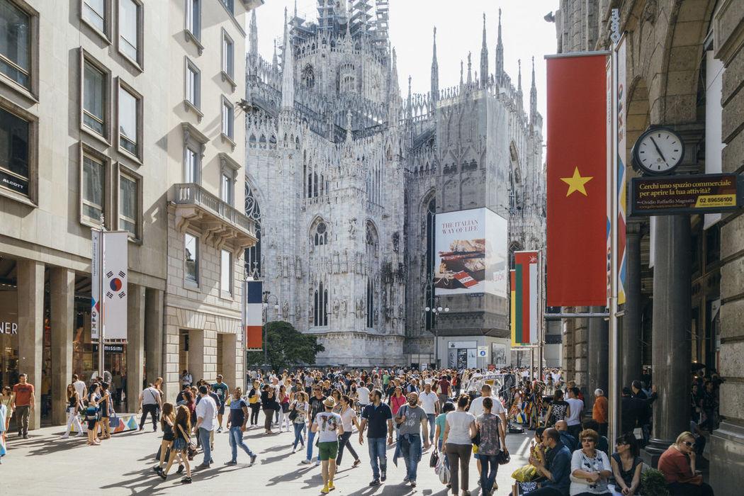 Duomo Duomo Di Milano Editorial  Expo Expo 2015 Milan Milano People Piazza Del Duomo