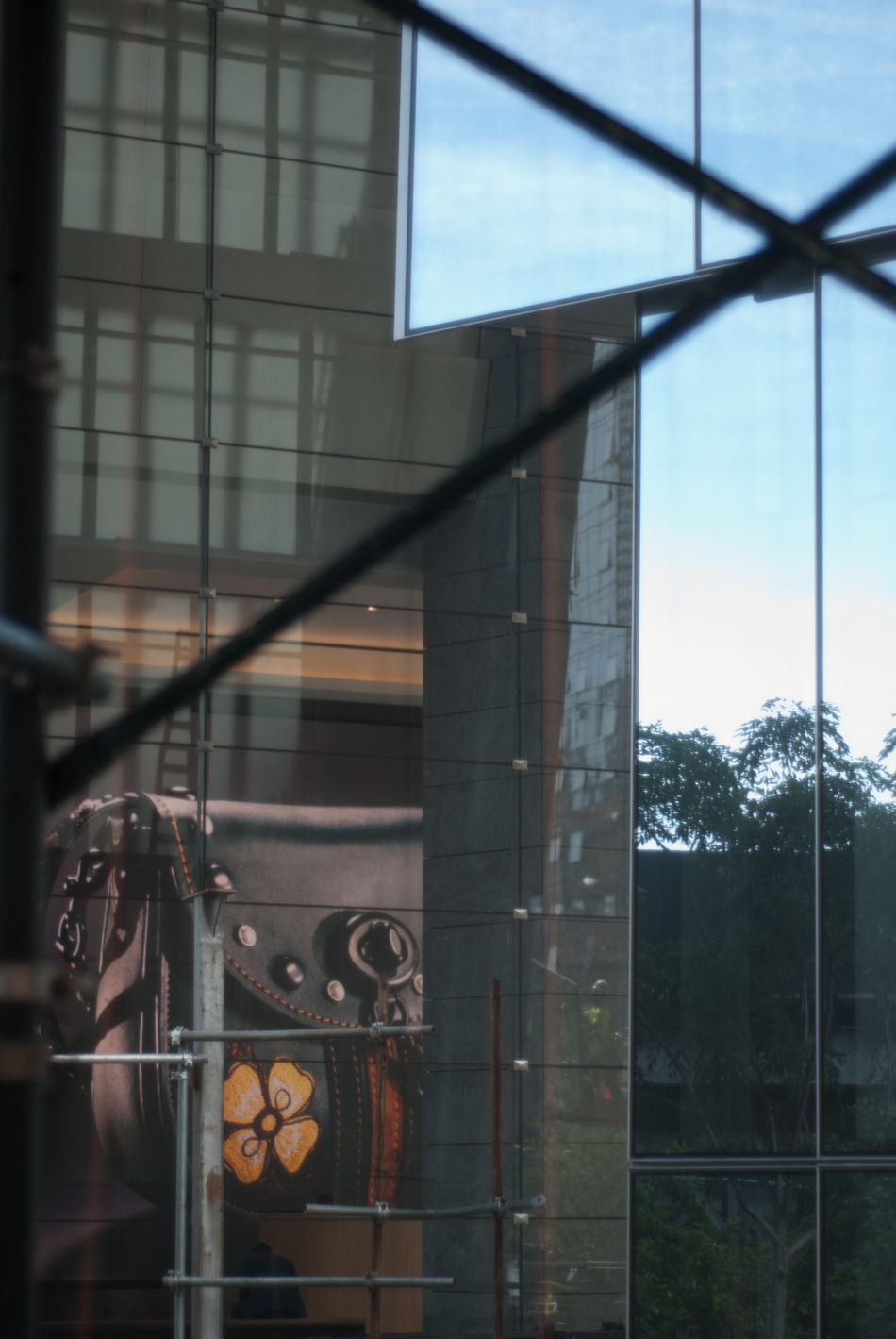 Architecture Architecture Building Exterior City Life Glass - Material Mirror Modern New York City Reflection Whats This? Window