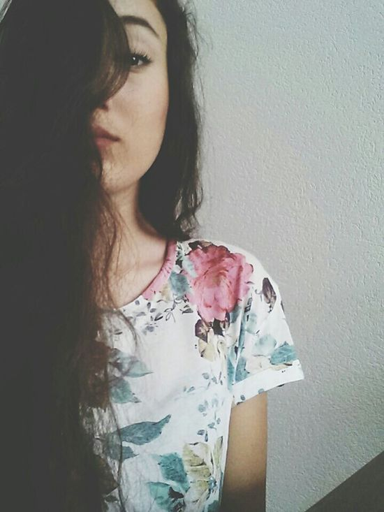 hold back the river Hold Back The River Flowers Flowers T-shirt Spring Me Hair Long Hair Make-up Simple