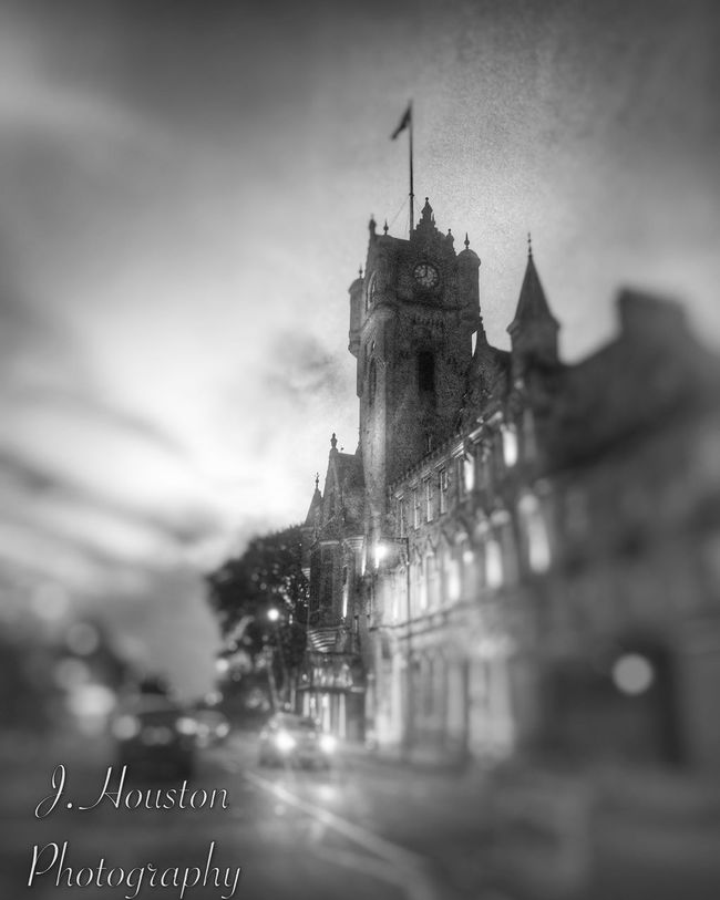 Blackandwhite B&w Street Photography Townhall Snapseed Blur different take on my first post