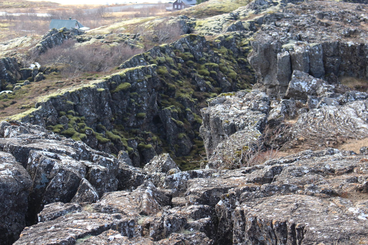 Thingvellir National Park Iceland Backgrounds Beauty In Nature Close-up Day High Angle View Landscape Nature No People Outdoors Rock - Object Sunlight Thingvellir National Park