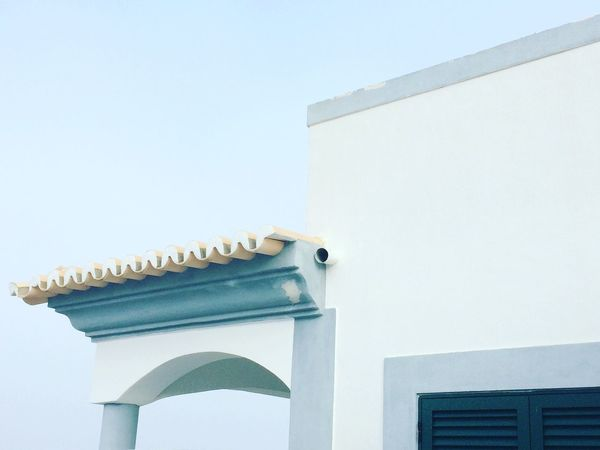Low Angle View Architecture Built Structure Wall - Building Feature Day No People Curve Architectural Feature Portugal Algarve Summerday Bluesky Sky Noclouds
