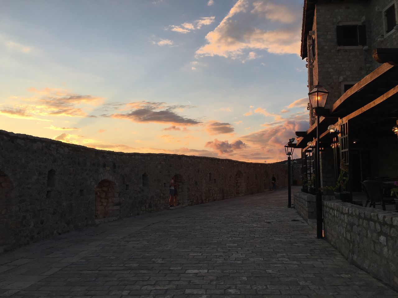 Sunset Romantic Sky Travel Destination Ulcinj Montenegro Old Town Travel Destinations