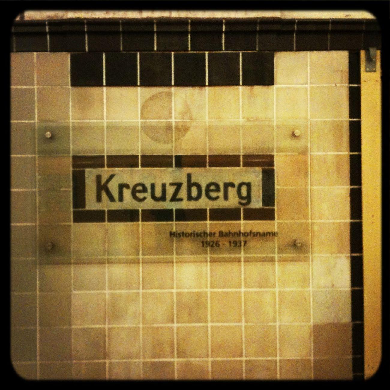 I'm at U-Bhf Kreuzberg.