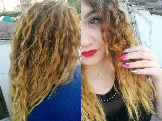 Myself Embarrassing Long Hair Curly Hair Long Nails Blonde Girl