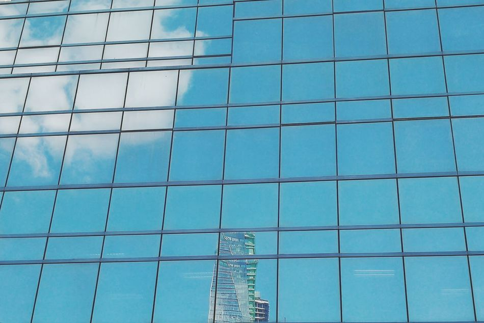 Cubic afternoon Glass Windows Reflection Building Sky Blue Sky Clouds Window Reflection Break The Mold Art Is Everywhere