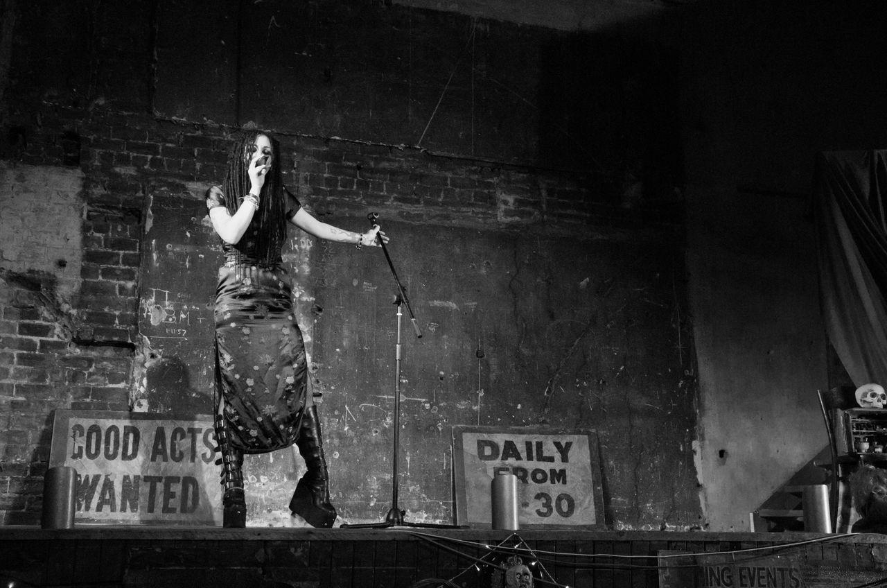 Halloween Variete at The Britannia Panopticon. Black And White Britannia Panopticon Burlesque Glasgow  Gothic Mic Monochrome Music Musichall  Musician Musicians Performance Portrait Scotland Show Silk Road So Variety Woman