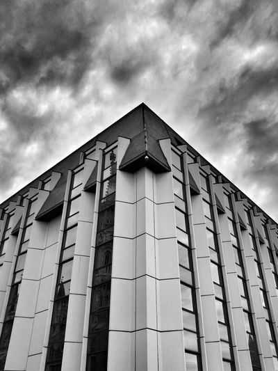 Building Exterior Architecture No People Outdoors Sky Built Structure Cloud - Sky Travel Travel Photography Budapest - Hungary Budapeststreets Budapestarchitecture Blackandwhite Monochrome Budacastle Buda Castle Hilton Hilton Hotel Hilton Budapest Welcome To Black