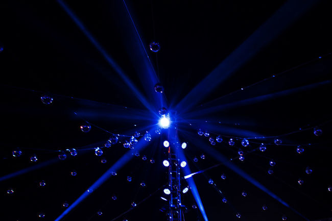Shinning blue star Bluelight Dark Hanging Illuminated Lighting Equipment Night Nightlife Stage Light