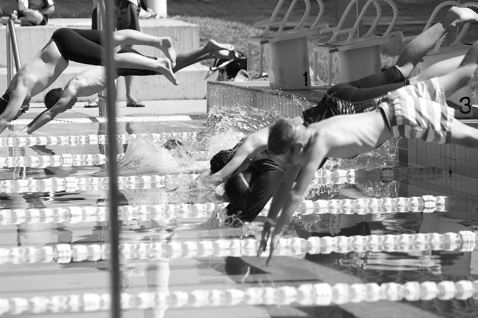 Hot Day Swimming Carnival Inter-School Swimming Carnival Swimming Swimming Competion Australia EyeEm Best Shots Showcase: February Water Australian Summer Aussie Kids Monochrome Photography Live For The Story
