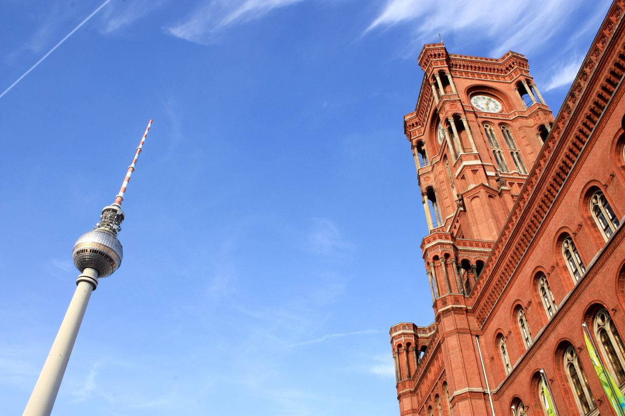 Architecture Berlin Berlin Mitte Building Exterior Built Structure Capital Cities  City City Life City Street City View  Citylife Famous Place Fernsehturm Germany Hello World Hi! Rathaus Rotes Rathaus Sky Spirituality Tourism Tower Travel Travel Destinations TV Tower