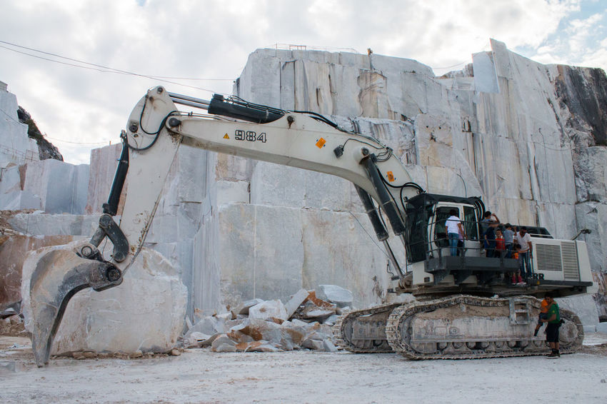 Crane in a Marble quarry, Carrara, Tuscany, Italy Carrara Crane Italy Marble Marble Quarry Mountain Outdoors Tuscany First Eyeem Photo