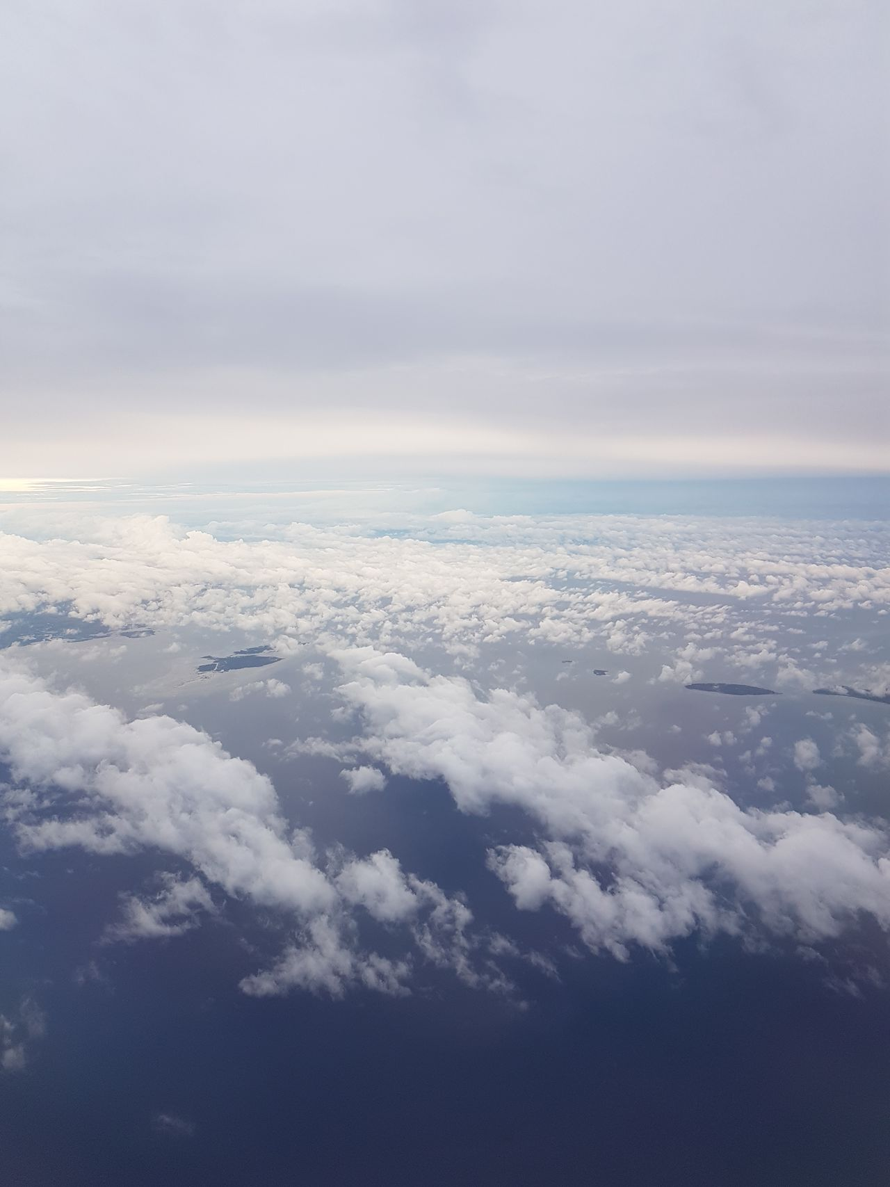 🛫⛅ Window Seat Privileges ⛅✈ EyeEmNewHere First Eyeem Photo Eyeem Philippines Samsung Galaxy S7 No Edits No Filters Travel Travel Photography Vacations Nature Beauty In Nature Tranquility No People Cloud - Sky Environment Sky Blue Aerial View Stratosphere Cloudscape Sea Airplane Water Heaven Scenics