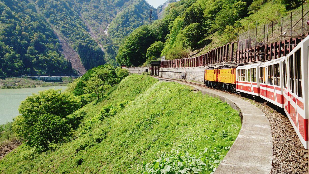 Traveling Train River Train Tracks Nature