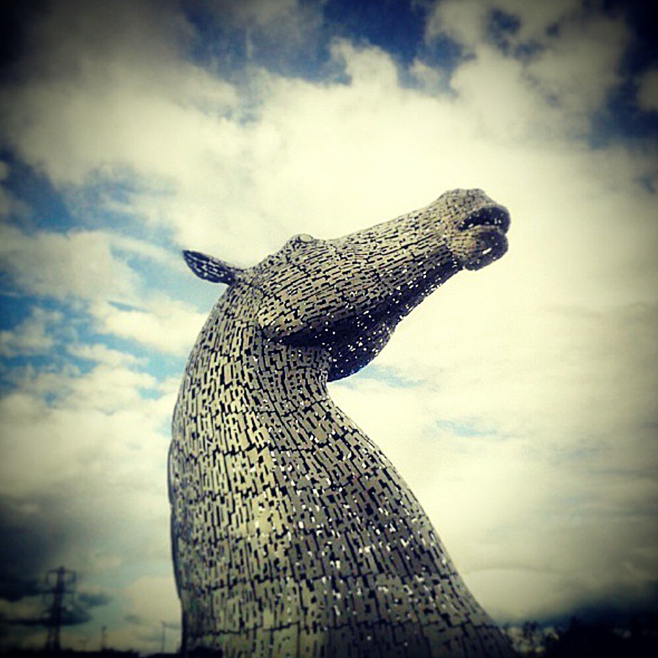 Outdoors Sky Kelpies  Kelpies Of Falkirk