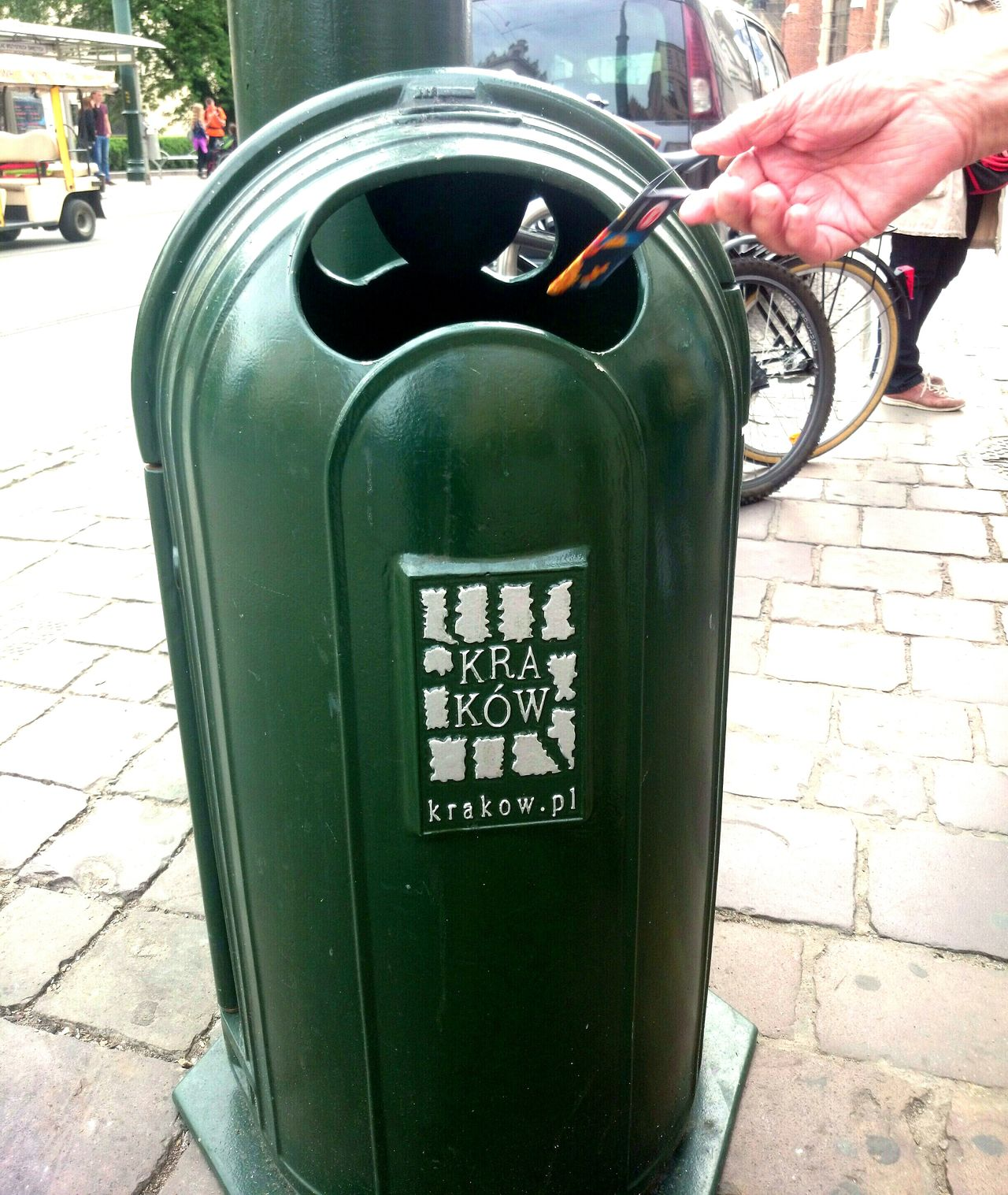 Trash bin in Cracow Kraków♥ Poland In Kraków Urban