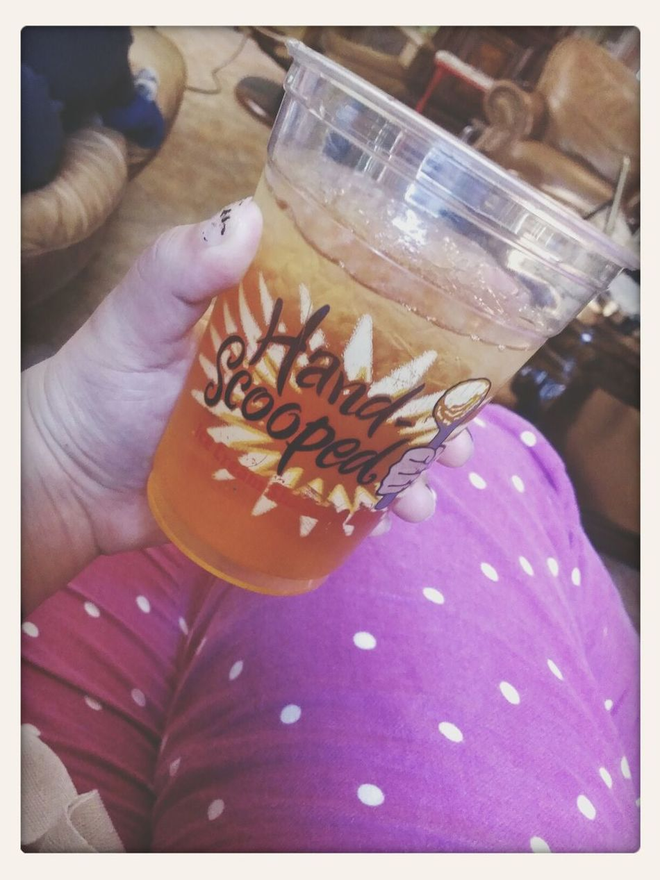 Taking Photos Applejuice Yummy Drink