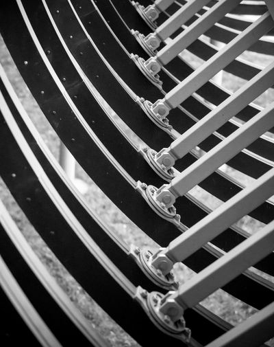 "Die Rehberger Brücke ""Slinky springs to fame"" in Oberhausen Black & White Oberhausen Rehberger Brücke SLINKY SPRINGS TO FAME Tobias Rehberger Architecture Backgrounds Blackandwhite Close-up Day Detail Full Frame Industrial Culture No People Pattern Steel Structure The Graphic City"